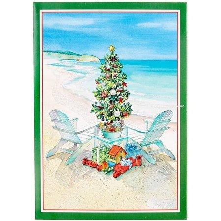 Brighten the Season Beach Holiday Greeting Cards