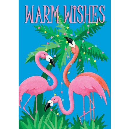 Brighten the Season Flamingo Wishes Greeting Cards
