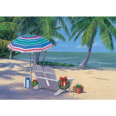 Brighten the Season Beach Bench Greeting Card Box