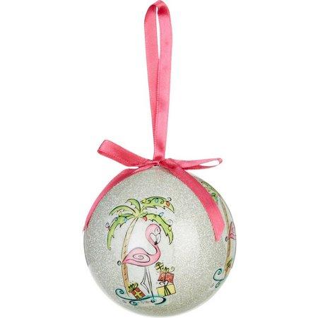 Brighten the Season Flamingo Tree Ornament