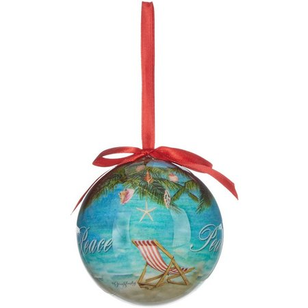 Brighten the Season Peaceful Holiday Ball Ornament