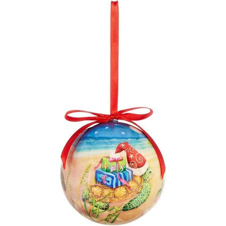 Brighten the Season Christmas Sea Turtle Ornament