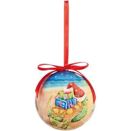 Brighten the Season Christmas Sea Turtle Ornament