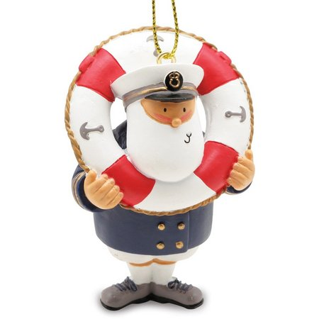 Cape Shore Captain in a Life Ring Ornament