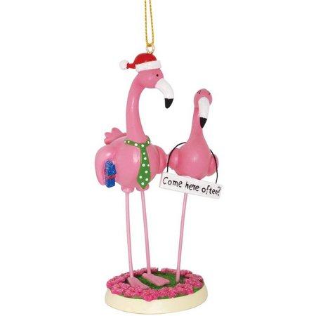 Cape Shore Flamingo Pair Ornament