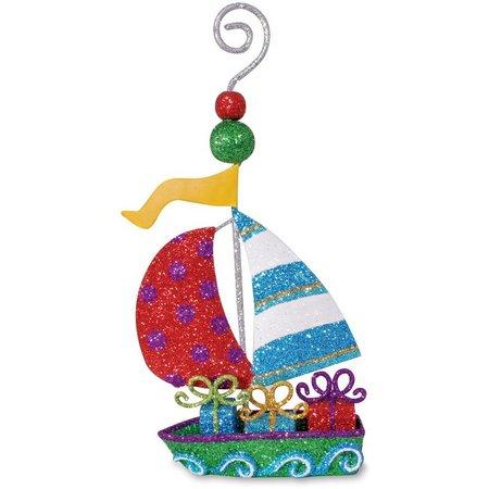 Cape Shore Glitter Sailboat Ornament