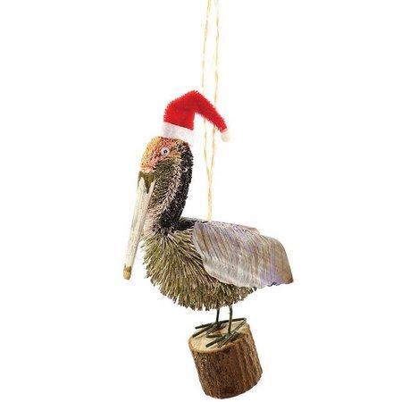 Gallerie II Santa Pelican Ornament