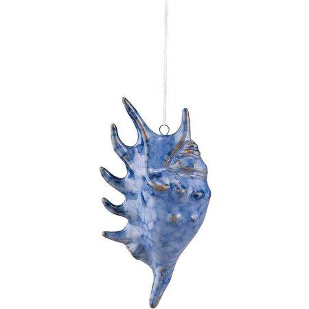 Gallerie II Cobalt Blue Shell Ornament