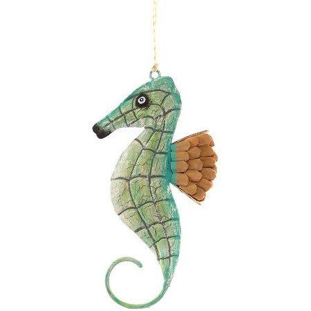 Gallerie II Seafoam Painted Seahorse Ornament