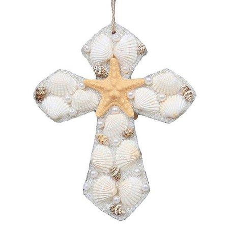 Brighten the Season Shell Cross Ornament