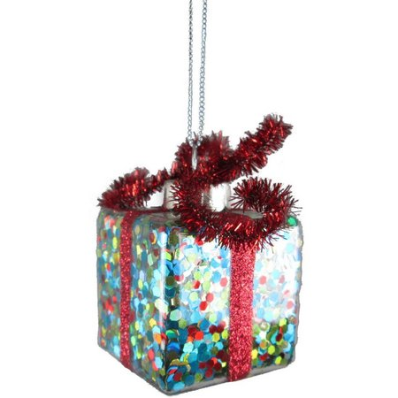 Brighten the Season Confetti Gift Box Ornament