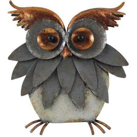 Brighten the Season Metal Owl Figurine