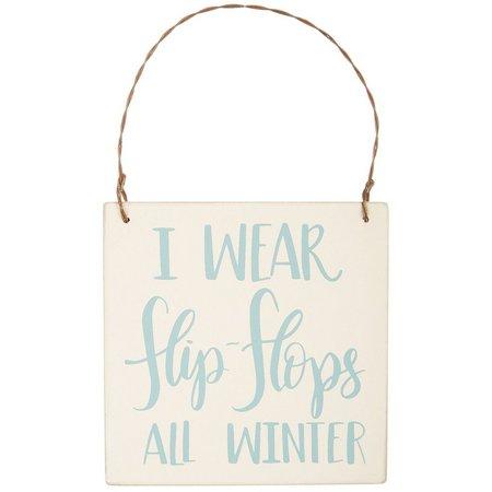Primitives By Kathy Flip Flops Sign Ornament