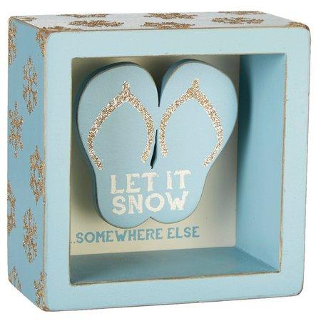 Primitives By Kathy Let It Snow Box Sign