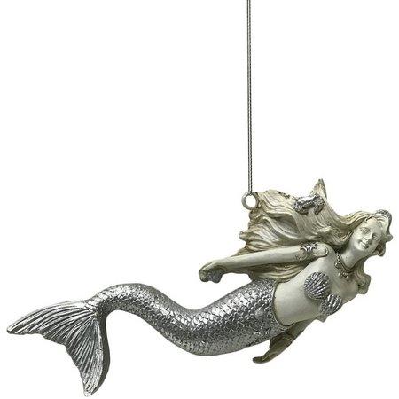 Brighten the Season Resin Laying Mermaid Ornament