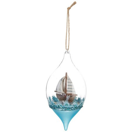 Brighten the Season Boat Bulb Ornament