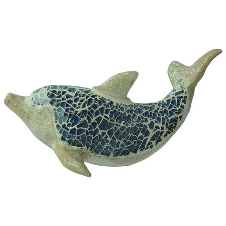 Brighten the Season Mosaic Dolphin Figurine