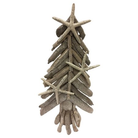 Brighten the Season 16'' Tri Driftwood X-mas Tree