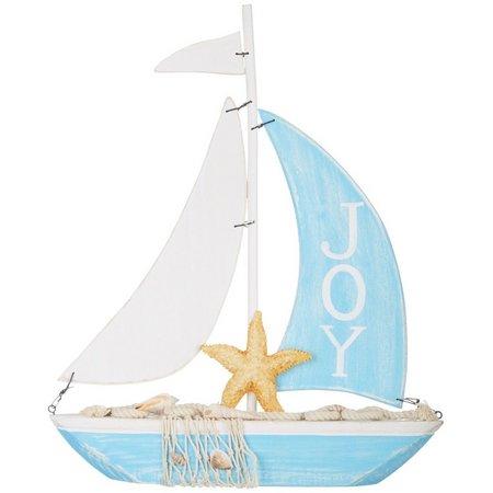 Brighten the Season Joy Starfish Sailboat Figurine