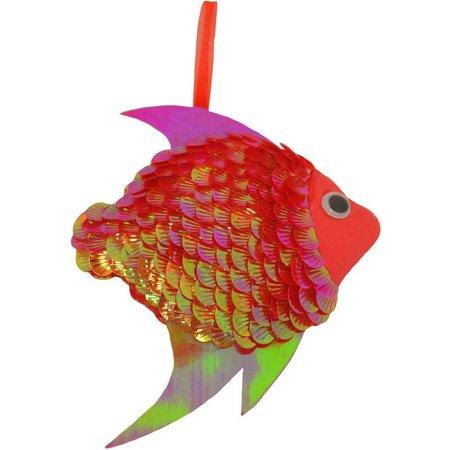 Brighten the Season Sequined Fish Ornament