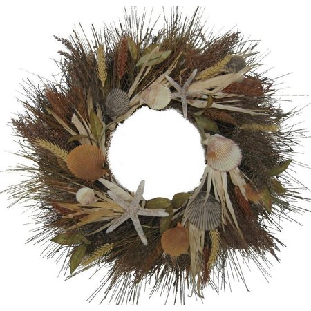 Brighten the Season 24'' Shell Cornhusk Wreath