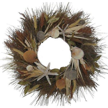 Brighten the Season 24'' Shell Cornhusk Wreath