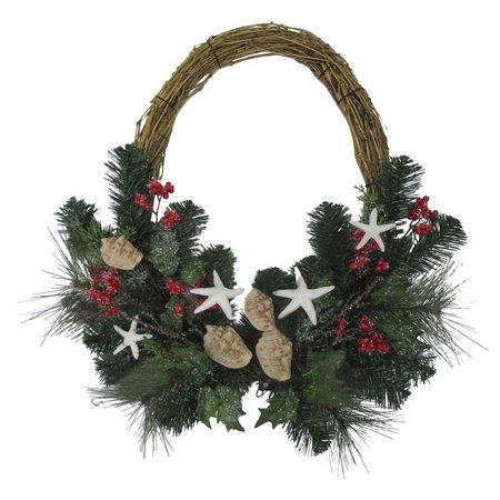 Brighten the Season 22'' Starfish Berry Wreath