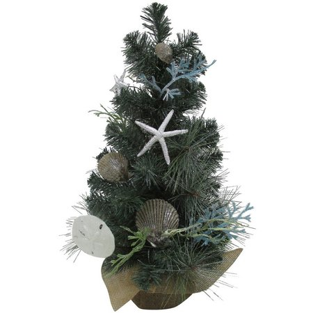 Brighten the Season 24'' Shell Mini Christmas Tree