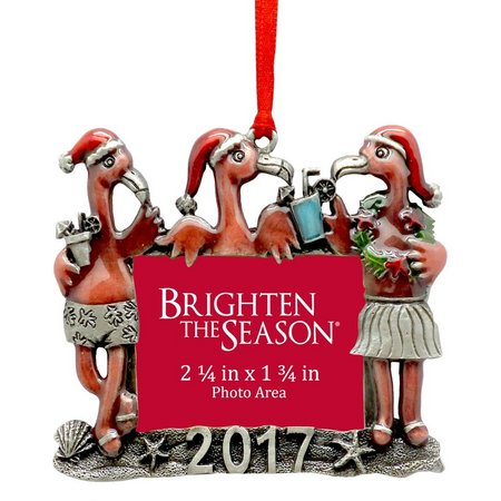Brighten the Season 2017 Flamingo Photo Ornament