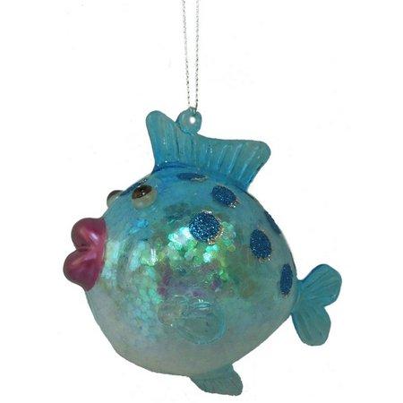 Brighten the Season Puffy Glitter Fish Ornament