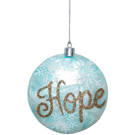 Brighten the Season Capiz Hope Ball Ornament