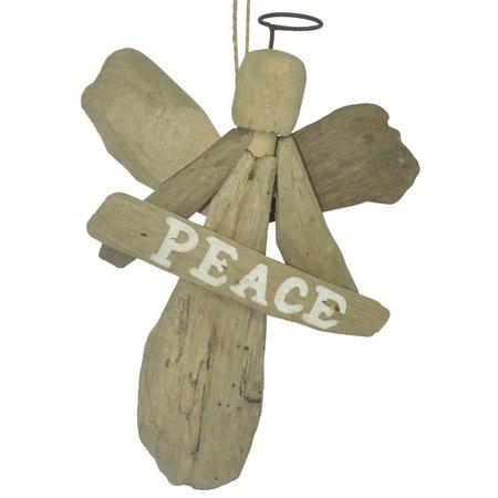 Brighten the Season Angel Peace Ornament