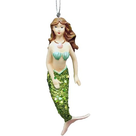 Brighten the Season Green Tail Mermaid Ornament