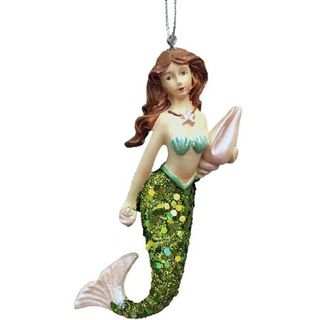 Brighten the Season Mermaid with Shells Ornament