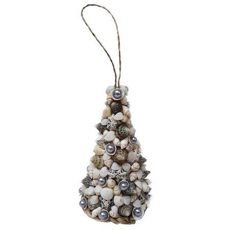 Brighten the Season Shell Tree Ornament