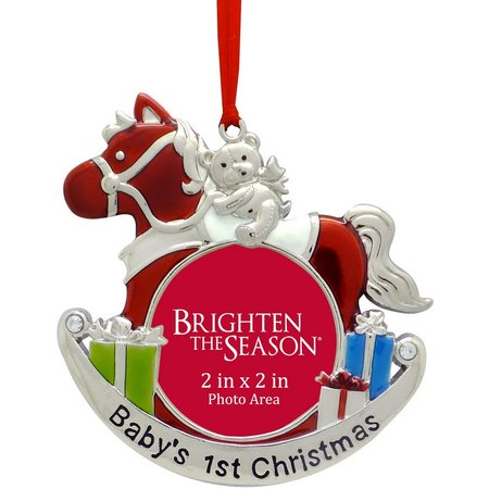 Brighten the Season Baby's 1st Xmas Frame Ornament