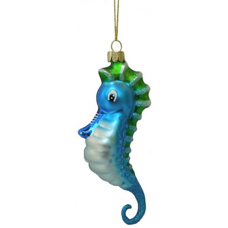Brighten the Season Bright Blue Seahorse Ornament