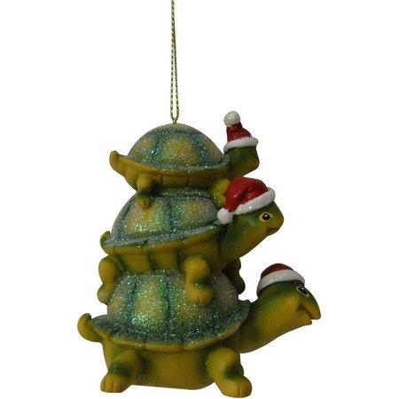 Brighten the Season Stacked Turtle Ornament