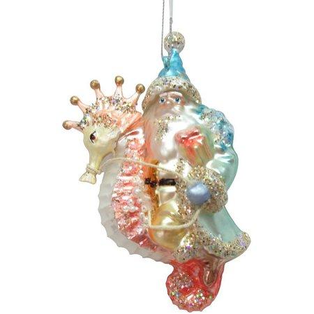 Brighten the Season Santa Sea Horse Ornament