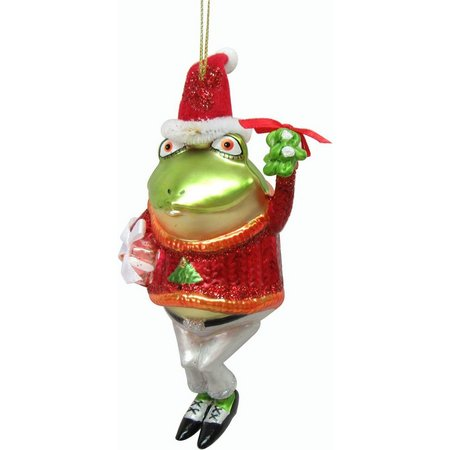 Brighten the Season Frog with Gift Ornament