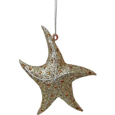Brighten the Season Gold Starfish Ornament