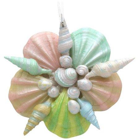 Brighten the Season Pastel Shell Star Ornament