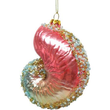 Brighten the Season Ombre Spiral Shell Ornament