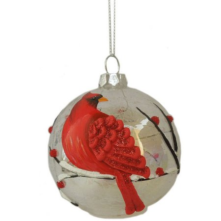Brighten the Season LED Cardinal Ball Ornament