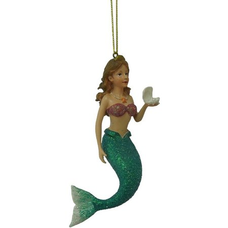 Brighten the Season Mermaid with Shell Ornament