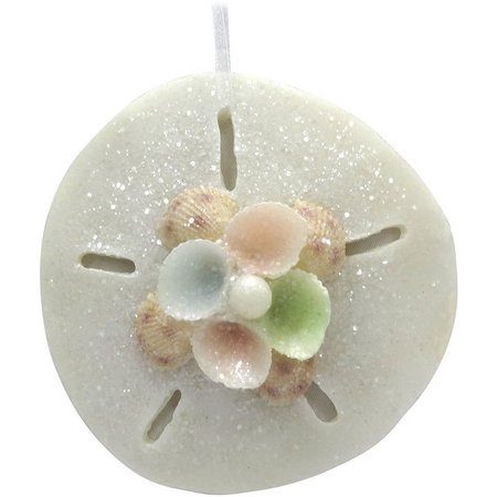 Brighten the Season Resin Sand Dollar Ornament
