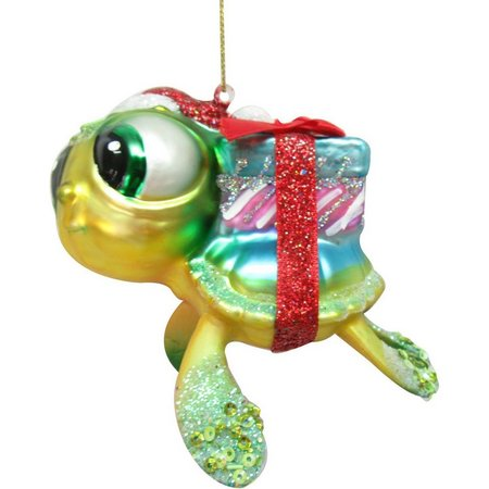 Brighten the Season Sea Turtle with Gifts Ornament