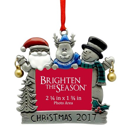 Brighten the Season Christmas 2017 Frame Ornament