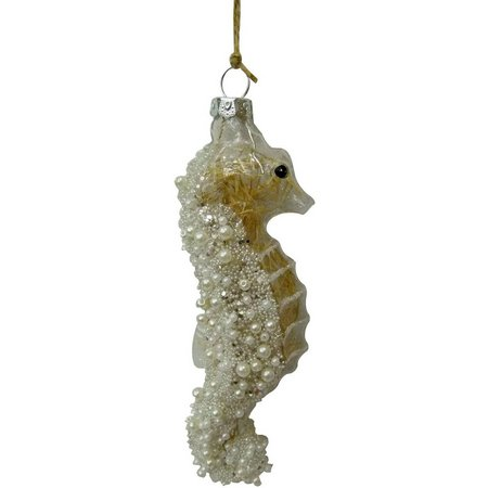 Brighten the Season Beaded Sea Horse Ornament