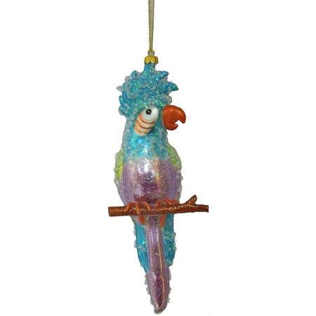 Brighten the Season Blue Tropical Parrot